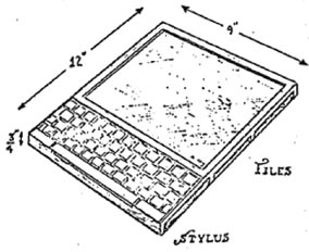 The first concept of a tablet computer was the DynaBook, introduced by Alan Kay in the late 1960s and early 1970s that was described in his article, A Personal Computer for Children of All Ages, (http://tinyurl.com/5zemqe). The DynaBook was a tablet form-factor computer long before even the laptop appeared—Kay described several ideas in that seminal piece of work that would become commonplace only decades later.