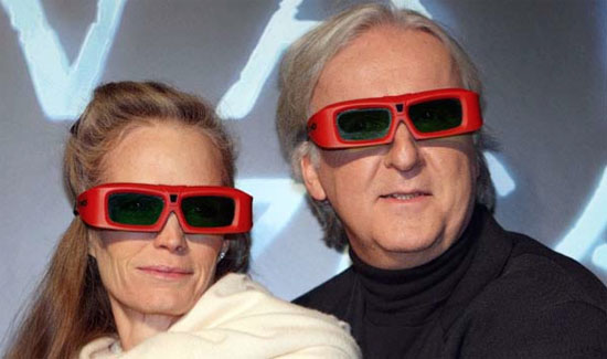 James Cameron wants 3D in the living room and practically everywhere else. (Source: LA Times)