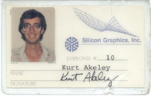 Kurt Akeley, employee Number 10 at Silicon Graphics. (Source: JPR TechWatch)