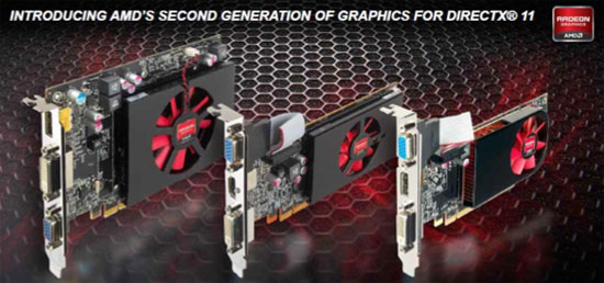 AMD'S HD 6670, 6570, and 6450 (Source AMD)