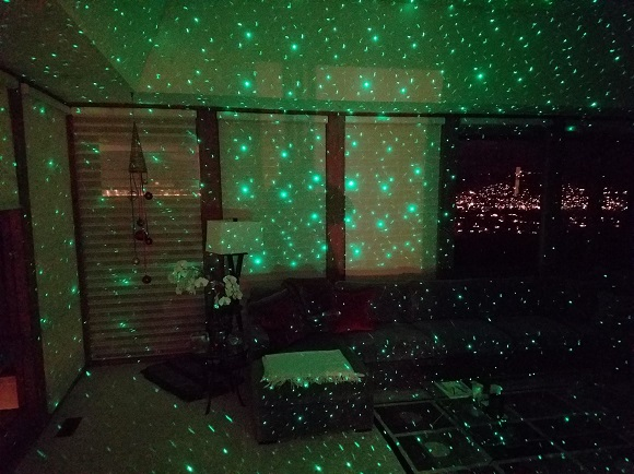 BlissLights Motion projector with ambient lighting off
