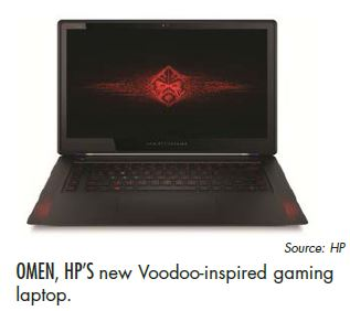 OMEN, HP'S new Voodoo-inspired gaming laptop.