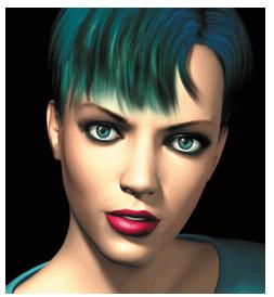The emerald-eyed, greenhaired virtual newscaster, Ananova