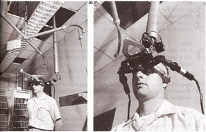 Ivan Sutherland testing an AR headset in 1968