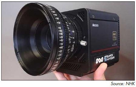 NHK's 8K camera shown at NAB 2014.